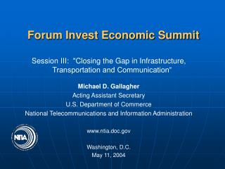Forum Invest Economic Summit