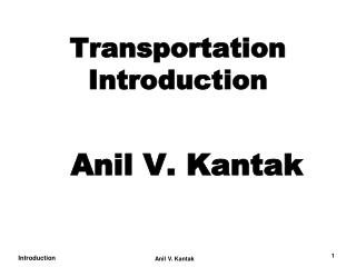 Transportation Introduction