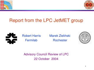 Report from the LPC JetMET group