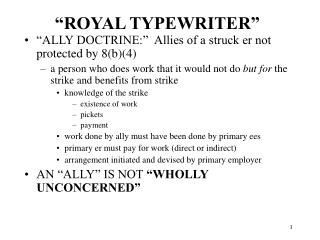 """ROYAL TYPEWRITER"""