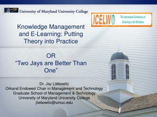 Knowledge Management and E-Learning: Putting Theory into Practice