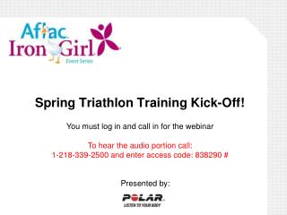 Spring Triathlon Training Kick-Off!