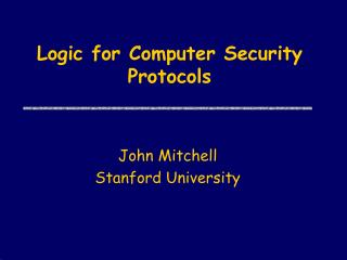 Logic for Computer Security Protocols
