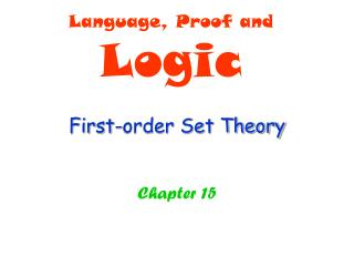 First-order Set Theory