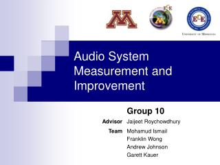 Audio System Measurement and Improvement
