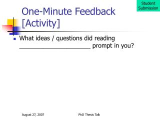 One-Minute Feedback [Activity]