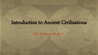 Introduction to Ancient Civilizations