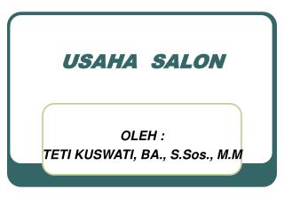 USAHA  SALON
