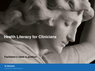 Health Literacy for Clinicians