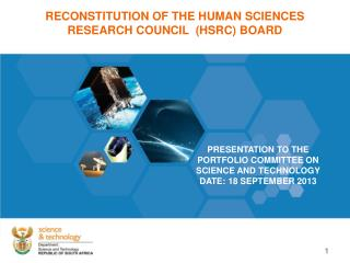 RECONSTITUTION OF THE HUMAN SCIENCES RESEARCH COUNCIL  (HSRC) BOARD