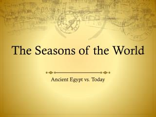 The Seasons of the World