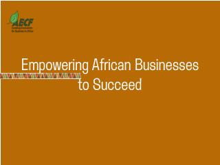 Empowering African Businesses to Succeed