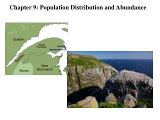 Chapter 9: Population Distribution and Abundance