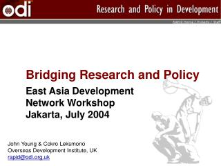 Bridging Research and Policy