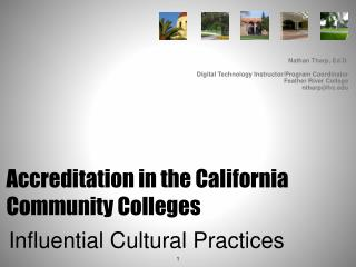 Accreditation in the California Community Colleges