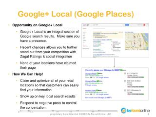 Google+ Local (Google Places)