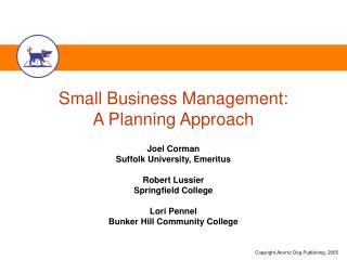 Small Business Management: A Planning Approach