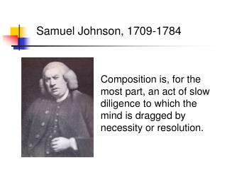 Samuel Johnson, 1709-1784