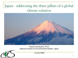 Japan - addressing the three pillars of a global climate solution