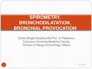SPIROMETRY, BRONCHODILATATION, BRONCHIAL PROVOCATION