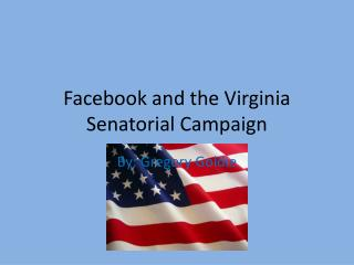Facebook and the Virginia Senatorial Campaign