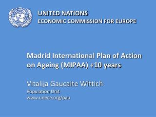 Ageing in the UNECE region