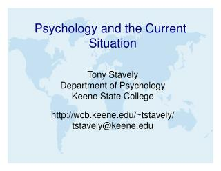 Psychology and the Current Situation