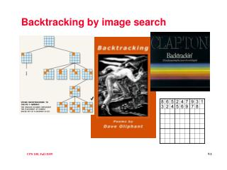 Backtracking by image search