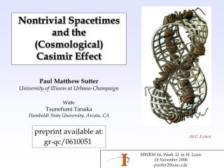 Nontrivial Spacetimes and the  (Cosmological)  Casimir Effect