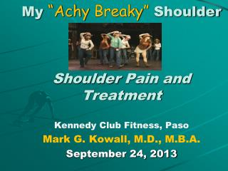 "My  ""Achy  Breaky ""  Shoulder Shoulder  Pain and Treatment"