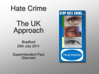 Hate Crime The UK Approach