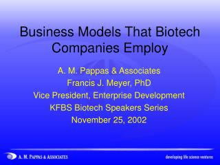 Business Models That Biotech Companies Employ
