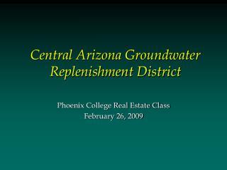 Central Arizona Groundwater Replenishment District