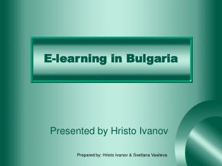 E-learning in Bulgaria
