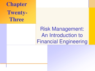 INTRODUCTION TO FINANCIAL ENGINEERING