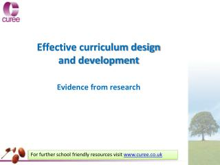 Effective curriculum design and development
