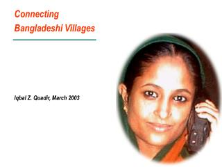 Connecting Bangladeshi Villages