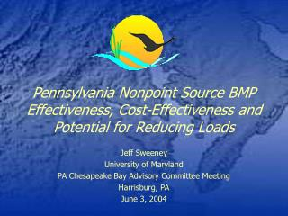 Pennsylvania Nonpoint Source BMP Effectiveness, Cost-Effectiveness and Potential for Reducing Loads