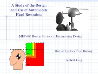 A Study of the Design and Use of Automobile  Head Restraints