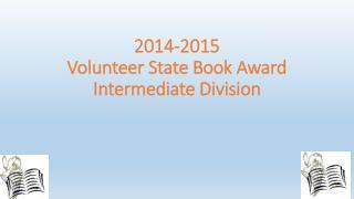 2014-2015 Volunteer State Book Award Intermediate Division