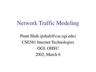 Network Traffic Modeling