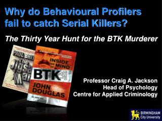 Why do Behavioural Profilers fail to catch Serial Killers?