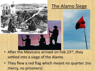 After the Mexicans arrived on Feb 23 rd , they settled into a siege of the Alamo.