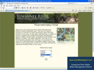www.srwmdfloodreport.com Suwannee River Water Water  M anagement District