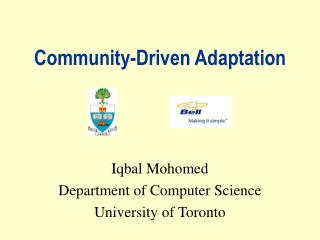 Community-Driven Adaptation