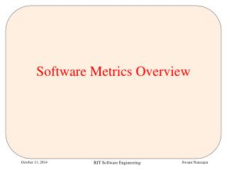 Software Metrics Overview
