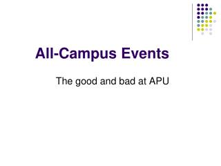 All-Campus Events
