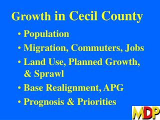 Growth  in Cecil County