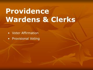Voter Affirmation Provisional Voting