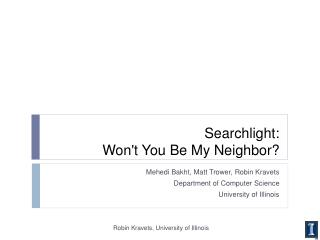 Searchlight:  Won't You Be My Neighbor?